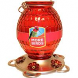Classic Brands  - Humming  - Gem Glass Hummingbird Feeder - Red - 22 oz