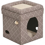 Midwest Homes For Pets - Curious Cat Cube - Mushroom - 15X15X16.5