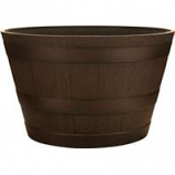 Southern Patio - Hdr Whiskey Barrel Planter - Kentucky Walnut - 15.5 Inch