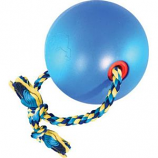 Ethical Dog - Tuggo Ball With Rope - Blue - 10 Inch