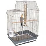Ware Mfg - Bird Central Cockatiel/Conure Cage - Gray/White