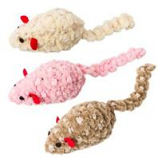 Ethical Cat - Chenille Chaser Mouse Cat Toy - Assorted - 2In
