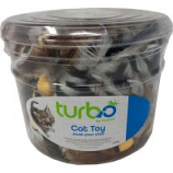 Coastal Pet Products - Turbo Feather Toys Canister - Multi - 51 Piece