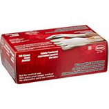 Boss Manufacturing -Disposable 3 Mil Powdered Latex Glove-White-Small 100Ct