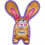 Fuzzu - Hopper All Ears Tough & Crackly Dog Toy - Yellow - Medium