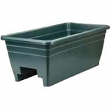 Myers Industries L&Ggroup - Deck Rail Box Planter - Hunter Green - 24 Inch