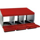 Miller Mfg - Galvanized Nesting Box with Plastic Basket - Red - Triple