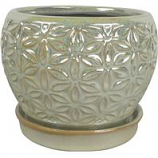 Southern Patio - Elora Planter - Pearl - 8 Inch