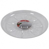 Bond Manufacturing - Heavy Duty Plastic Saucer-Clear-12 Inch