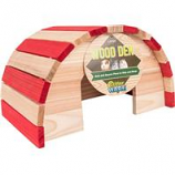 Ware Mfg. - Wood Den Hide Out -Red / Natural - Large