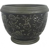 Southern Patio - Gracie Planter - Deep Gray - 8 Inch