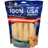 Pet Factory  - Usa Beefhide Rolls - Regular - 4Pk 7 Inch