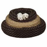 Slumber Pet -  Swirl Plush Donut Bed 18 Inch Brown - Small - Chocolate