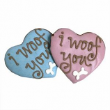Bubba Rose Biscuit - Assorted Woof Hearts (Case of 12)