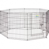 Midwest Container - Contour Exercise Pen With Door - Black - 30In