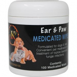 Elite Pharmaceuticals - Medicated Ear Paw Wipe - 100 Ct