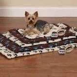 Slumber Pet - Thermapet Paw Print Crate Mat Medium/Large White - Medium/Large - Ivory