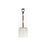 The Ames Company - Garant - 10 Tine Ensilage Fork With D Grip Handle-Gold-16 Inch