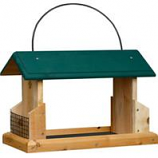 Welliver Outdoors - Open Air Feeder Deluxe Cedar With Suet Holders-Natural/Green