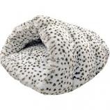 Ethical Fashion - Seasonal - Sleep Zone Snow Leopard Cuddle Cave - Snow Leopard - 22 Inch
