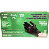 Boss Manufacturing -Disposable 4 Mil No Powder Nitrile-Black-Large 100Ct
