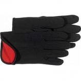 Boss Manufacturing -Fleece Lined Jersey Glove-Black/Red Lined-Large