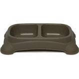 Gardner Pet Group - Double Diner Dish - Taupe Gray - Small 1 - 1/2 Cup