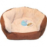 Ethical Fashion-Seasonal - Sleep Zone Reversible Cushion Bed-Chocolate-18 Inch