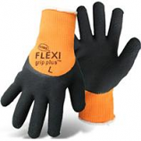 Boss Manufacturing -Flexi Grip Plus High-Vis Latex Palm-Orange-X Large
