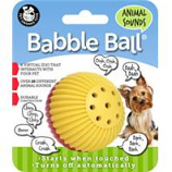 Pet Qwerks - Animal Sounds Babble Ball-Red & Yellow-Small