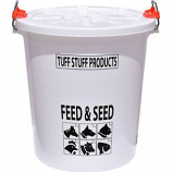 Tuff Stuff Products - Feed Storage Drum With Locking Lid - White - 12 Gallon