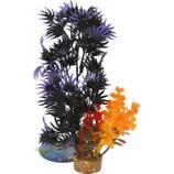 Blue Ribbon Pet Products - Color Burst Florals Large Brush Plants - Black/Purple - Large
