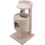 Ware Mfg-  Dog/Cat - Cutout Condo Cat Furniture-Natural-19Wx19Dx35.5H
