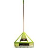 The Ames Company - Dual Tine Poly Leaf Rake-Green-71 Inch
