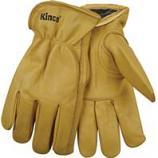 Kinco International-Lined Grain Cowhide Glove-Tan-Medium