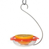 Droll Yankees - Bos Marmalade Hanging Oriole Feeder-Clear/Orange-5 Inch