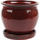Southern Patio - Clayworks Wisteria Planter - Red - 12 Inch