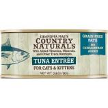 Grandma Mae's Country Naturals - Country Naturals Grain Free Cat & Kitten Pate - Tuna - 2.8 Oz