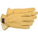 Boss Manufacturing -Therm Premium Insulated Deerskin Driver Glove-Tan-Medium