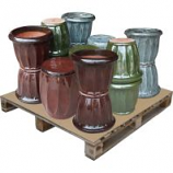 Southern Patio - Cathedral Planter & Plant Stand Ceramic Pallet