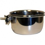 A&E Cage Company - Stainless Steel Coop Cup With Bolt Hanger - Stainless Steel - 5 oz