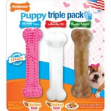 Tfh Publications/Nylabone - Puppy Chew Triple Pack - Pink