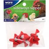 Ware Mfg - Sideways Sipper Horizontal Water Nipples - Red - 5 Pack