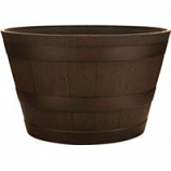 Southern Patio - Hdr Whiskey Barrel Planter - Kentucky Walnut - 22.5 Inch