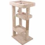 Ware Mfg-  Dog/Cat - Tabby Terrace Cat Furniture-Natural-20Wx24Dx55H