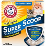 Church & Dwight - Arm & Hammer Super Scoop Clumping Litter - Unscented - 14 Pound