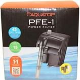Aquatop Aquatic Supplies - Forza Power Filter - Black - 15 Gallon