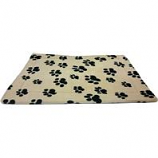 Ethical Fashion-Seasonal - Sleep Zone Thermo Pet Mat-Tan W/Pawprints-37 X25