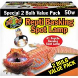 Zoo Med - Repti Basking Spot Lamp - 2 Pack - 50 Watt