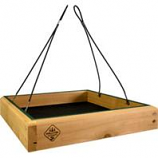 Welliver Outdoors - Platform Feeder Hanging Cedar-Natural/Green